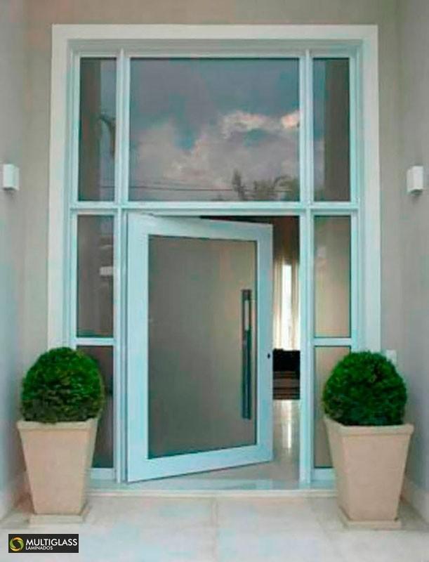 Porta de segurança em vidro
